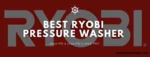Ryobi Electric Pressure Washer Review