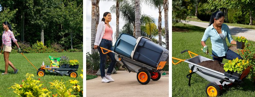 WORX WG050 Aerocart Review 8-in-1 All-Purpose Wheel barrow Yard Cart Dolly 18_ x 12_ x 42