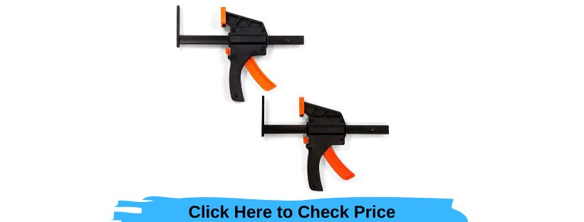 WEN 36053C 6 inch Quick Release Track Saw Clamps 2 Pack